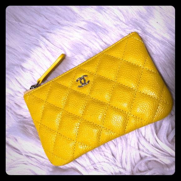 2057bc6c1a5361 CHANEL Bags | Bnib Authentic Yellow Caviar Mini O Case | Poshmark